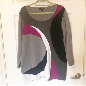 Alfani Multicolored Long Sleeve Sweater XL